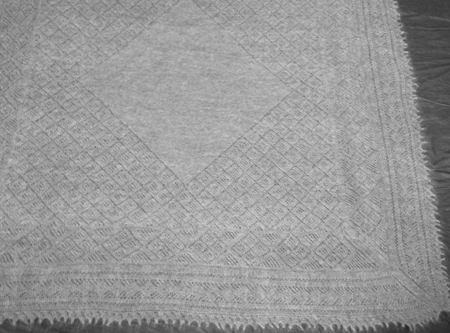 Оренбургские пуховые платки схемы. как связать свитер-шарф спицами.